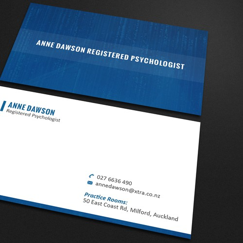 Psychologist business card design business card contest runner up design by km d e s i g n colourmoves