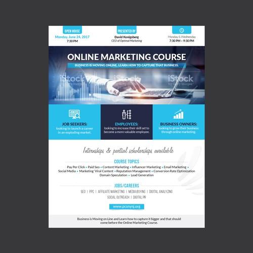 flyer for pcs online marketing course postcard flyer or print contest