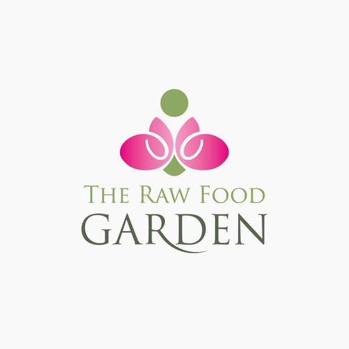 logo for The Raw Food Garden ..tag line may be simply raw ...