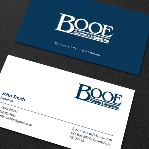 Create a new enticing business card for booe business card contest runner up design by an designer reheart Image collections
