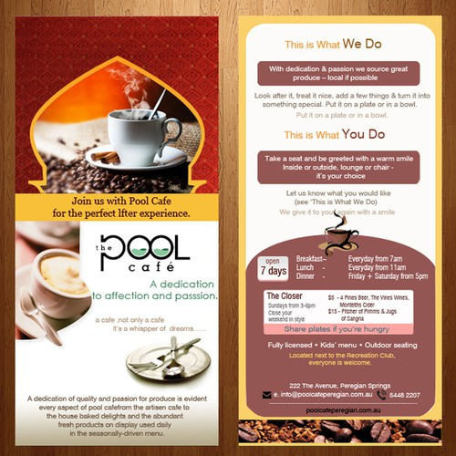 The Pool Cafe, help launch this business Diseño de John Smith007