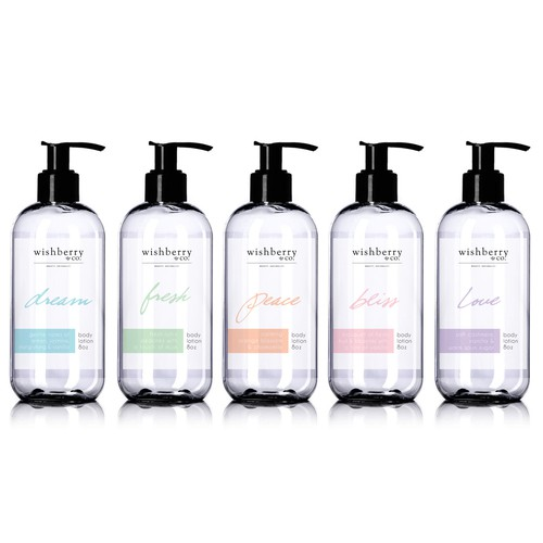 Wishberry & Co - Bath and Body Care Line Design by faya_stata
