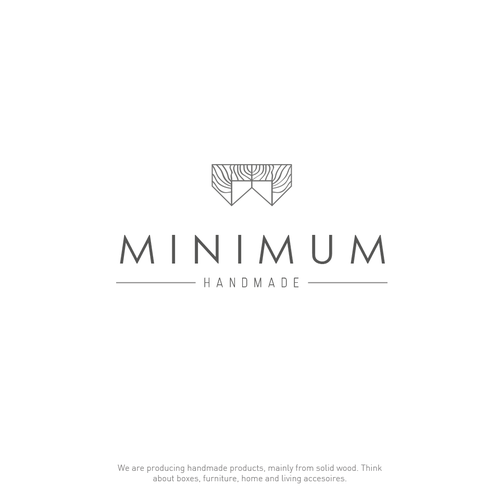 make an out of the box logo for minimum handmade logo design wettbewerb. Black Bedroom Furniture Sets. Home Design Ideas