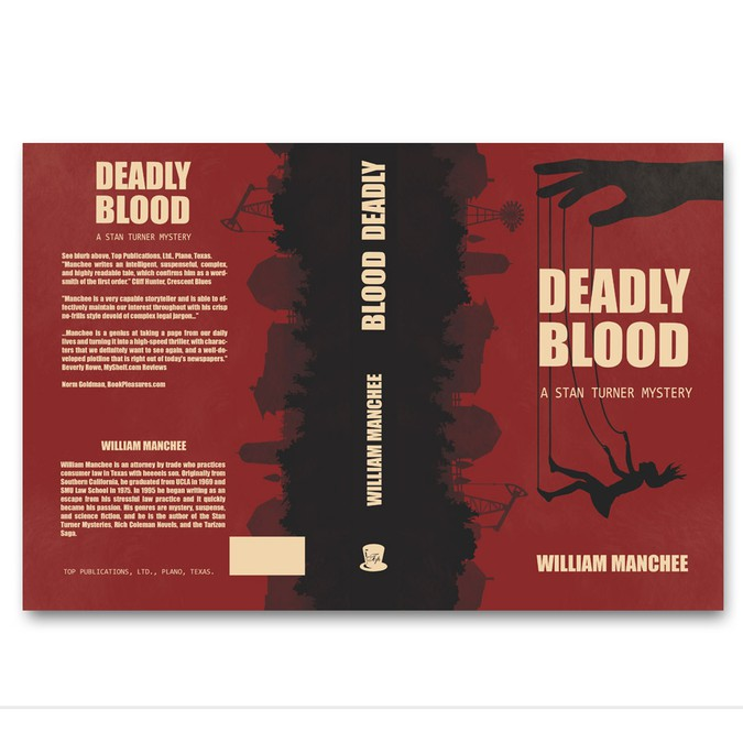 Design Cover for Deadly Blood, V12 of the Stan Turner Mysteries