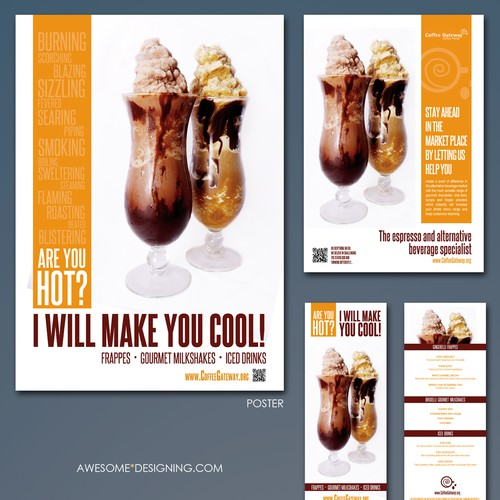 postcard or flyer for Doubleshot Concepts Design by Awesome Designing