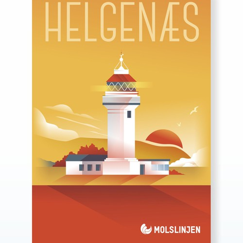Multiple Winners - Classic and Classy Vintage Posters National Danish Ferry Company Design by maspoko