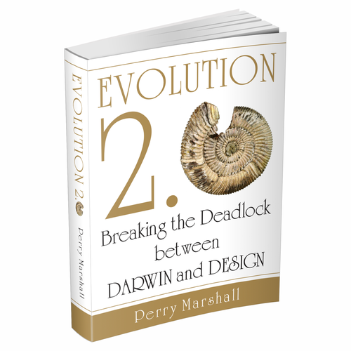 Create an Intelligent Design/Evolution-inspired trade book cover ...