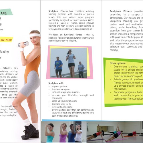 Sexy new brochure wanted for ladies fitness program | Print