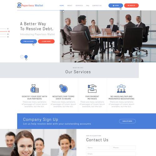 Diseño finalista de Ved Web Services