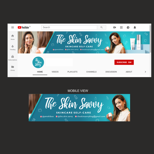 Youtube Channel Banner For Savvy Skincare Shoppers Social Media Page Contest 99designs