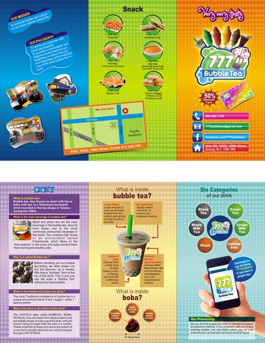 777 Bubble Tea promotion flyer | Brochure contest