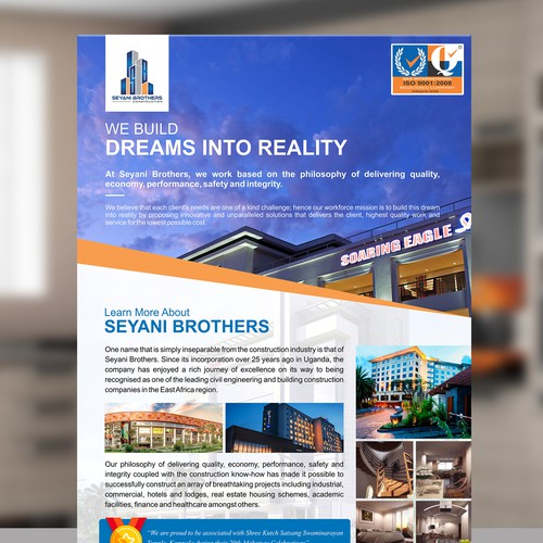 Design a Corporate A4 Flyer/Advert for a Construction