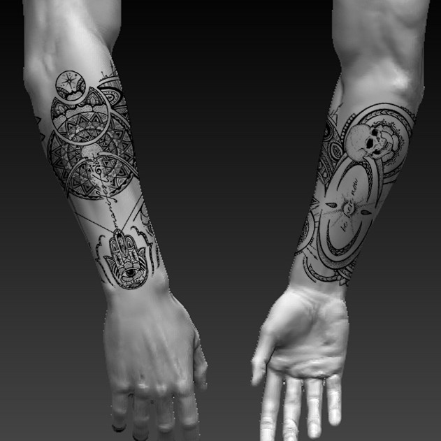 9c5e3faef ... Half Tattoo Sleeve Design Needed - Spiritual Ideas. Winning design by  LazebraArt