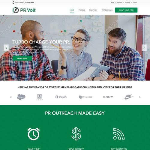 Diseño finalista de webs.solutions