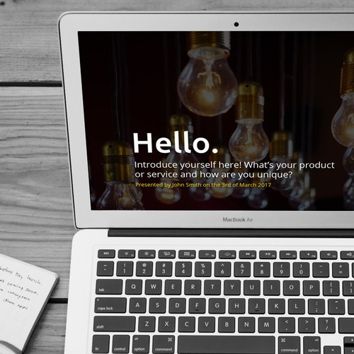 99designs Presentation Template for Startups Design by Katie Rhead