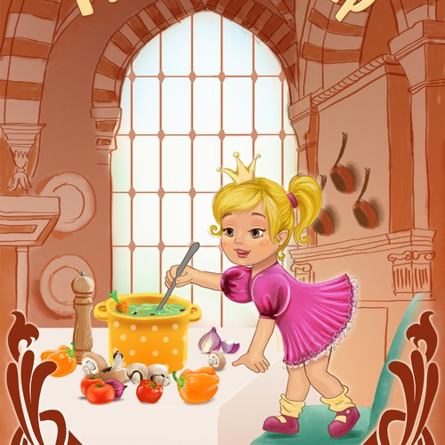 """Princess Soup"" children's book cover design Design by Britany"