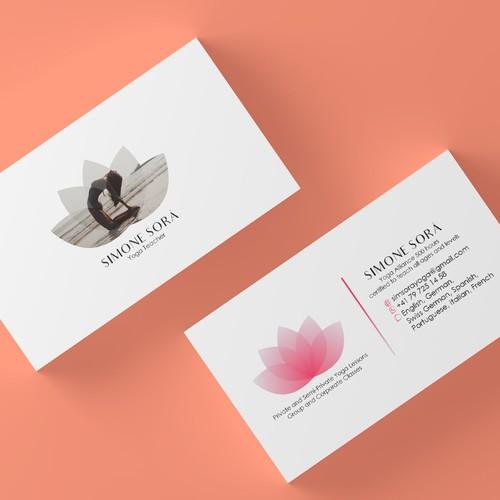 Design A Beautiful Business Card For A Yoga Teacher Business