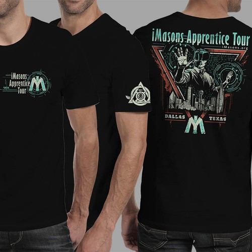 """Create a t-shirt for Infrastructure Masons (iMasons) new data center tour: """"iMasons Apprentice Tour"""" Design by HARDERS"""
