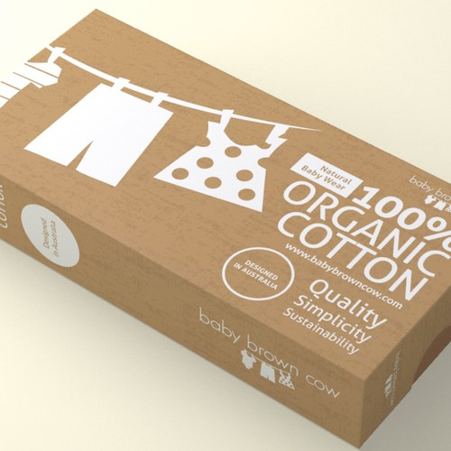 100 organic baby clothing business needs a packaging design 商品