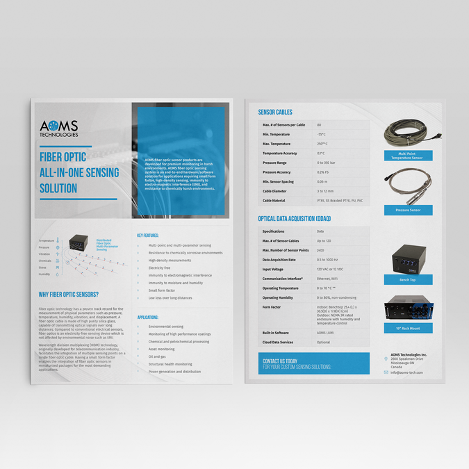2 Page Brochure >> Design A Clean Professional 2 Page Product Flyer Brochure