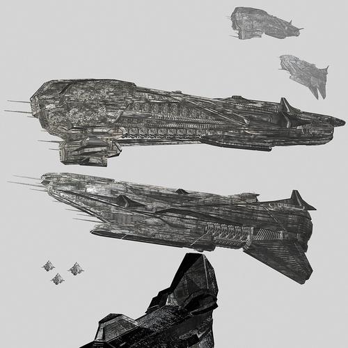 Spacecraft Illustration for Novel Design by racerx11080