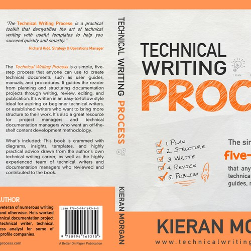 Create a great cover design for my book, Technical Writing