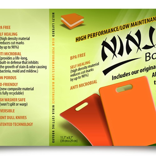 Ninja cutting board product leaflet Design by Soyelchino