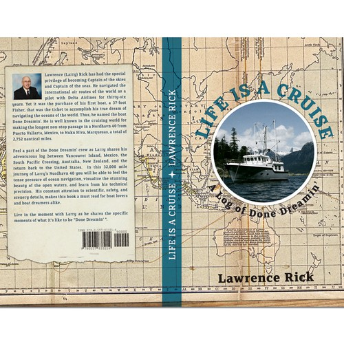 Log Book Cover Design ~ Book cover for nautical log from vancover to australia and