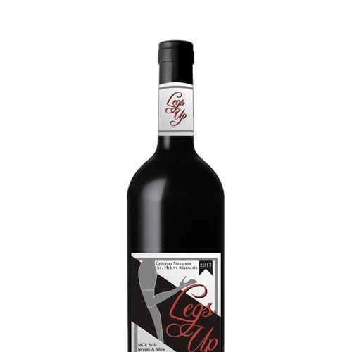 Legs Up 2013 Vintage Wine Label Design by antimasal