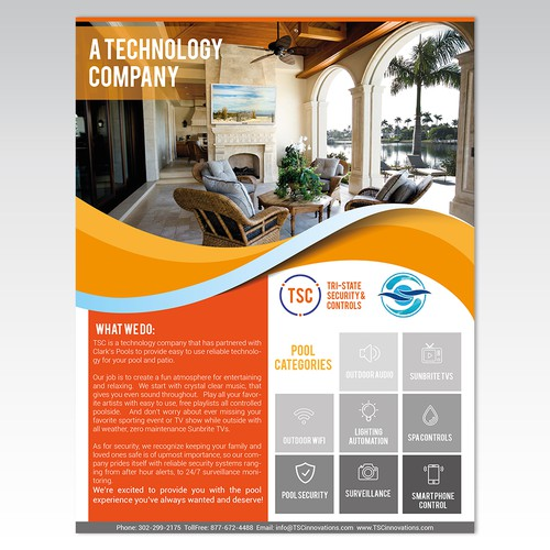 Pool Technology Flyer - Winner Eligible for $1,000+ Contract