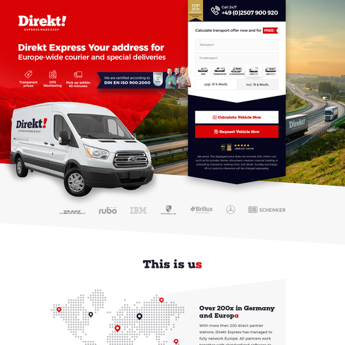 Redesign the existing landing page   Landing page design