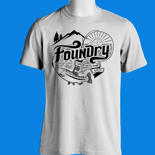 Design a t shirt for a fly fishing lifestyle brand t for Fishing t shirts brands