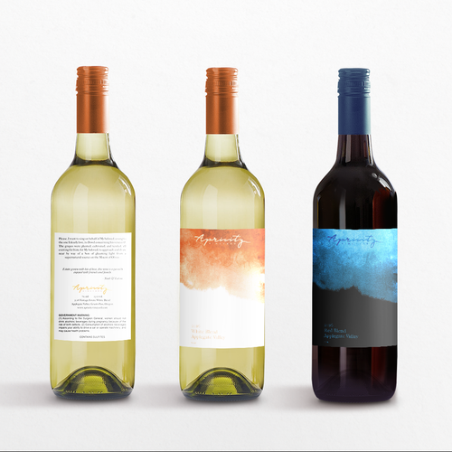 Apricity Vineyard 2016 White Blend Wine Label Design by ABS DSGN