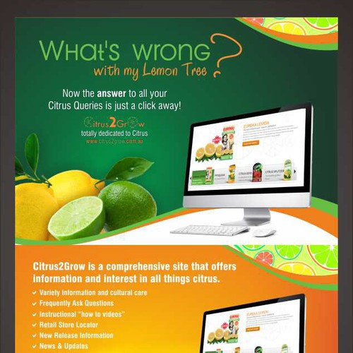 Citrus Site needs eye catching Promotional Post Card with zest and zing Design by gugun004