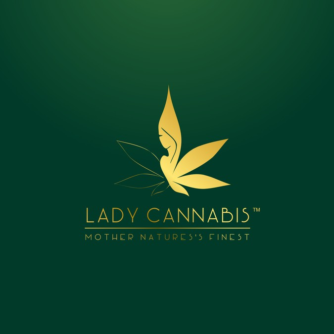 Lady Cannabis Skin Care Logo Design - Marijuana Skin Cream | Logo design contest
