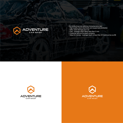 Design a cool and modern logo for an automatic car wash company Design by zephyr♬