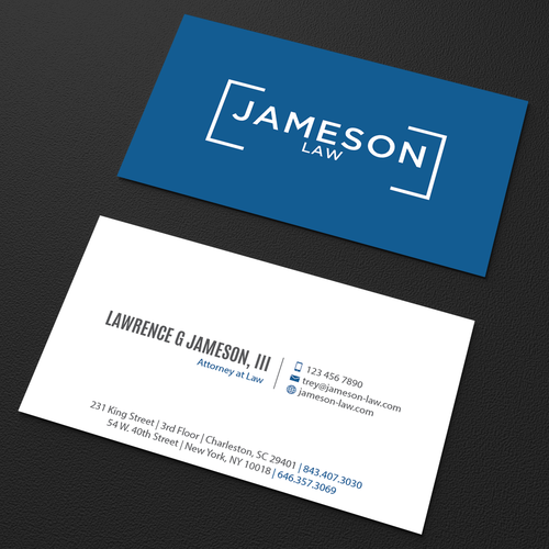 Law firm business card business card contest runner up design by an designer colourmoves