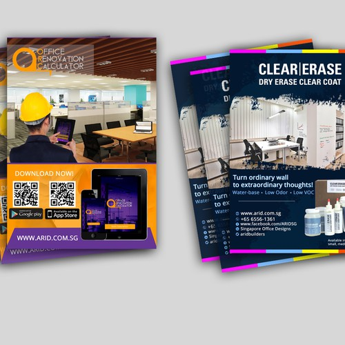 Flyer and handout for a commercial interior design company for Interior design 99designs