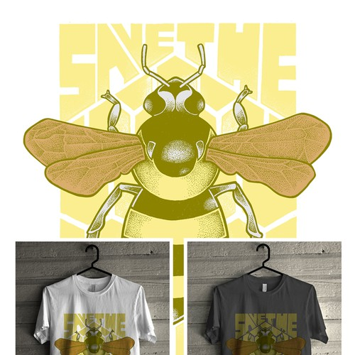 """Create a """"Save the Bees"""" Illustration Design by Monkeii"""