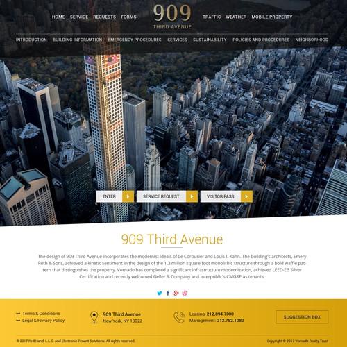 Diseño finalista de webzguru