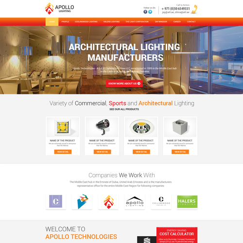 Create A Fresh And Dynamic Website For A Lighting Company Web Page Design Contest 99designs