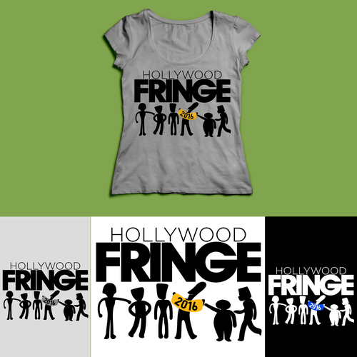 The 2016 Hollywood Fringe Festival T-Shirt Design by Aulolette Pulpeiro