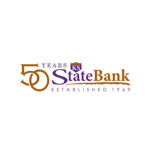 Design Bank Twist.Community Bank Needs A 50 Years In Business Logo Logo Design