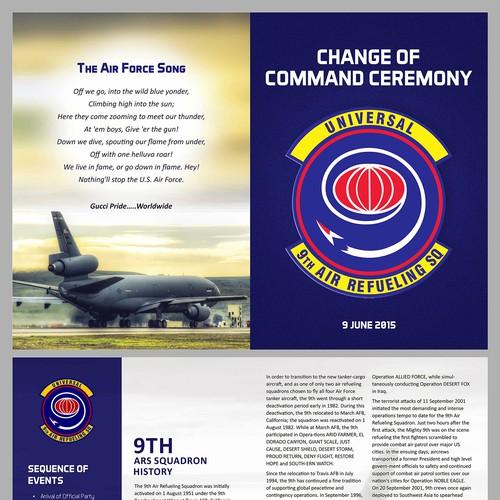 brochure program for us air force retirement ceremony brochure