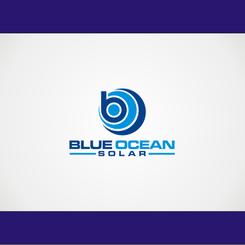 blue ocean solar logo design wettbewerb. Black Bedroom Furniture Sets. Home Design Ideas