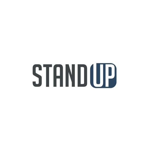 stand up logo design wettbewerb