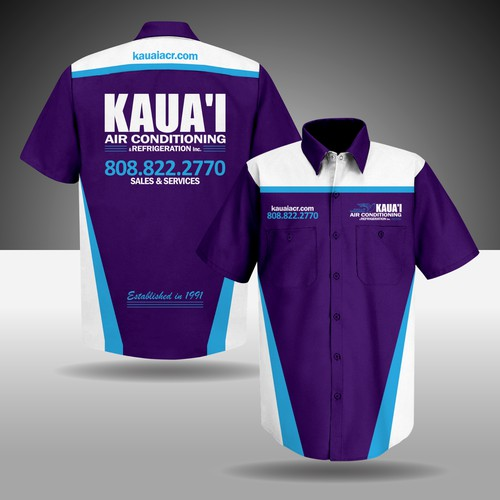 Design technician work shirts for air conditioning company   T ...