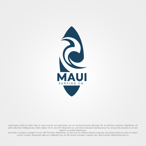 design a surfing lifestyle brand logo for maui surfing co logo