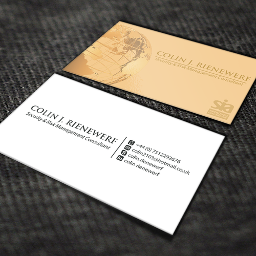 Security and risk management consultant business card contest runner up design by bertmanuel colourmoves