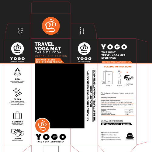 Redesign Travel Yoga Mat Box Product Packaging Contest 99designs